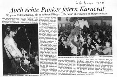 Risikofaktor Verriss aus dem Soester Anzeiger 1995